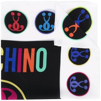 Moschino Question Mark-Print Silk Scarf