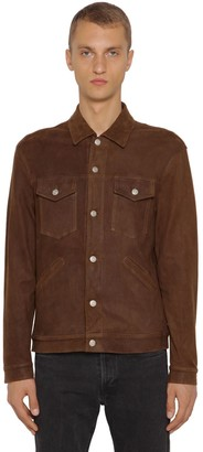 Giorgio Brato Stretch Leather Shirt Jacket