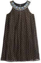 Blush by Us Angels Blush Dot-Print Trapeze Party Dress, Big Girls (7-16)
