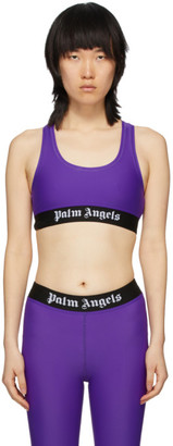 Palm Angels Purple Logo Sports Bra