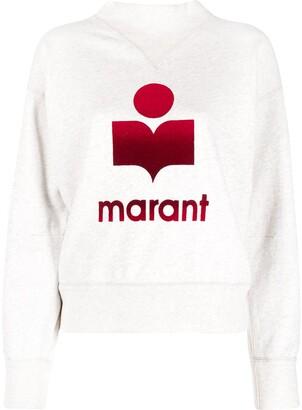 Etoile Isabel Marant Logo-Print Funnel-Neck Sweatshirt
