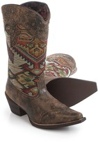 Laredo Tribal Print Cowboy Boots - Leather, Snip Toe (For Women)