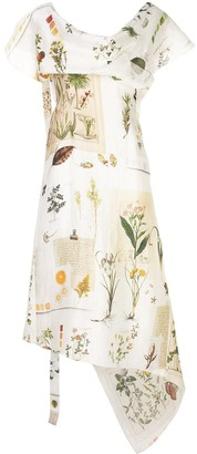 Monse Botanical Journal Patchwork-Print Dress