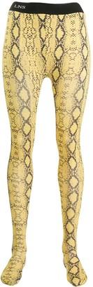 Laneus Snakeskin-Print Leggings