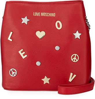Love Moschino Borsa Studded Logo Tote Bag