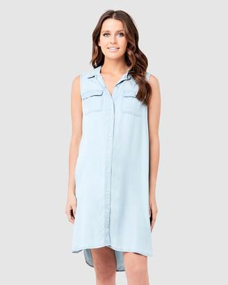Ripe Maternity Sleeveless Weekend Shirt Dress