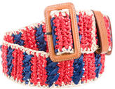 Prada Multicolor Raffia Belt