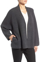 Nordstrom Double Knit Cashmere Blend Open Front Cardigan