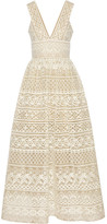 Elie Saab Guipure Lace Gown - Cream