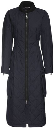 Max Mara Waterproof Quilted Gabardine Coat