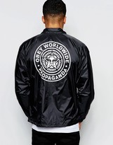 Obey Coach Jacket With Back Print