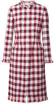 Oscar de la Renta Fringed Cotton-blend Tweed Coat - Red