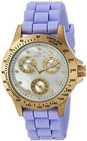 Invicta Women's 'Speedway' Quartz Stainless Steel and Silicone Casual Watch, Color:Purple (Model: 21975)