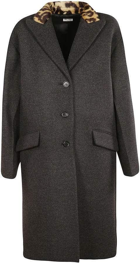 Miu Miu Fur Single Breasted Coat