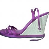 Saint Laurent Rive Gauche Wedge Heeled Sandals