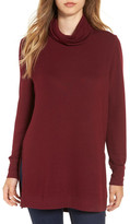 MADISON & BERKELEY Side Slit Turtleneck Tunic