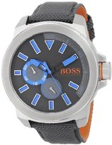 HUGO BOSS BOSS Orange Men's 1513013 New York Analog Display Quartz Grey Watch