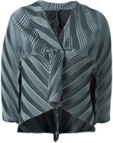 Issey Miyake three-quarters sleeve pleated jacket
