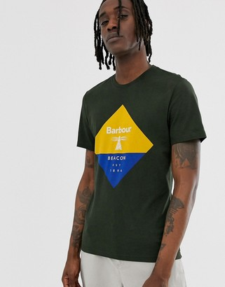 Barbour Beacon diamond logo t-shirt in olive-Green