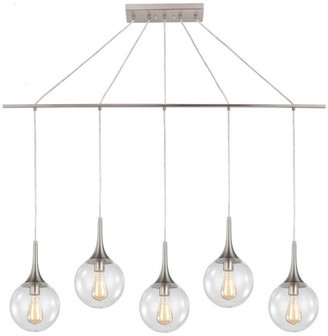 Woodbridge Lighting Alicia 5-Light Linear Pendant with ST64 Bulb