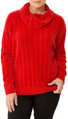 PINGPONG Cowl Neck Chenille Pullover
