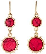 Robert Rose Gold-Tone Double Circle Earrings