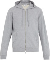 Sunspel Hooded zip-through cotton sweatshirt