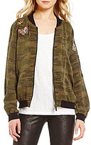 Sanctuary Butterfly Embroidered Bomber Jacket