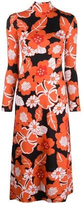 Rokh Floral Print Dress