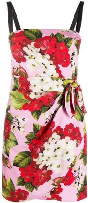 Dolce & Gabbana Geranium print sleeveless fitted dress