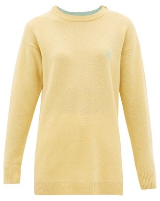 Loewe Anagram-embroidered Wool Sweater - Womens - Cream
