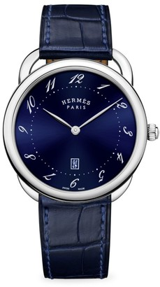 Hermes Arceau 40MM Stainless Steel & Alligator Strap Watch