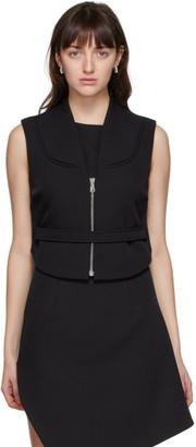 Coperni Black Open Back Zip-Up Vest
