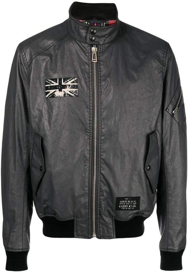 Belstaff flag patch bomber jacket