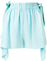 Fendi scalloped handkerchief hem shorts - women - Silk/Viscose - 38