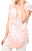 Raquel Allegra Shirred Combo Top
