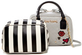 Betsey Johnson Faux Leather Peek-A-Boo Satchel