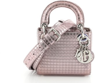 Christian Dior Lady Bag Micro Cannage Perforated Calfskin Mini