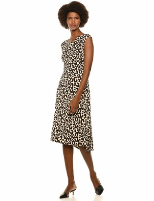 Chaus Women's S/L Animal Whimsy Dress