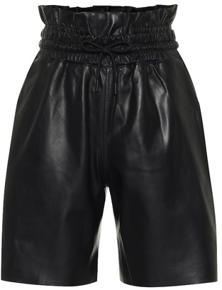 RtA Amata leather paperbag shorts
