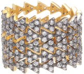 Freida Rothman 14K Gold Plated Sterling Silver CZ Arrow Eternity Ring - Set of 5 - Size 8