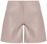 Maria Grachvogel Damar Leather Shorts