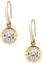 Michael Kors Logo Disc Drop Earrings