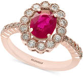 Effy Amore by Certified Ruby (1-3/8 ct. t.w.) and Diamond (5/8 ct. t.w.) Statement Ring in 14k Rose Gold, Created for Macy's