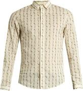 Gucci Rose-print cotton shirt
