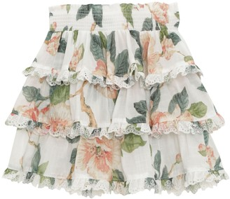 Zimmermann Kirra Tiered Trim Skirt