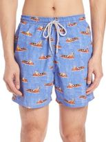 Saks Fifth Avenue Collection Show Boat Swim Trunks