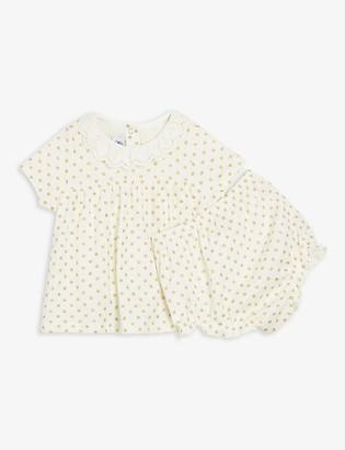 Petit Bateau Polka dot-print cotton-blend dress 6-36 months