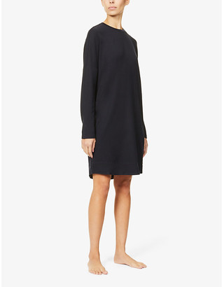 Max Mara Round-neck dropped-shoulder stretch-jersey top