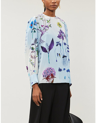 Stella McCartney Floral silk blouse
